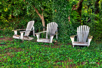 Old Adirondack Chairs in HDR