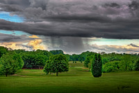 Spring Shower over the Golf Course in HDR